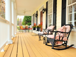 Wooden Porch And Rails